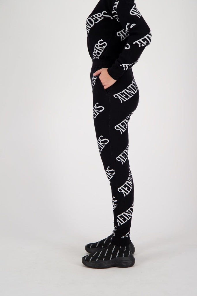 Pants Wording All Over - black