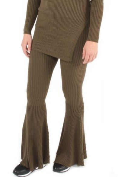 Twinset Pants Flair - dark olive