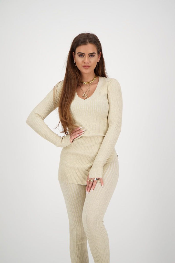 Twinset Sweater Lurex - creme