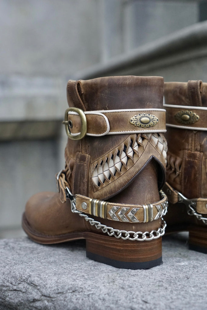 Sendra Chiquita Braided boots - brown