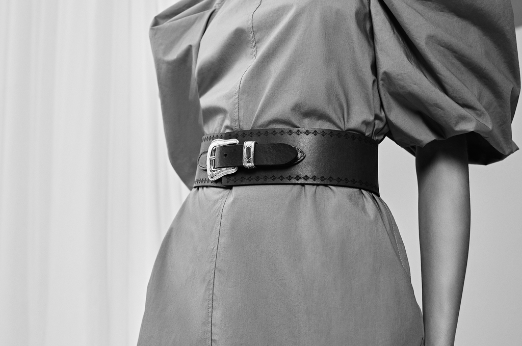 The Kaia belt - Casey black/silver