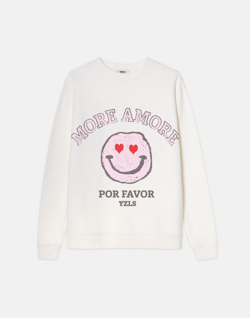Yeez Louise more amore sweater - off white