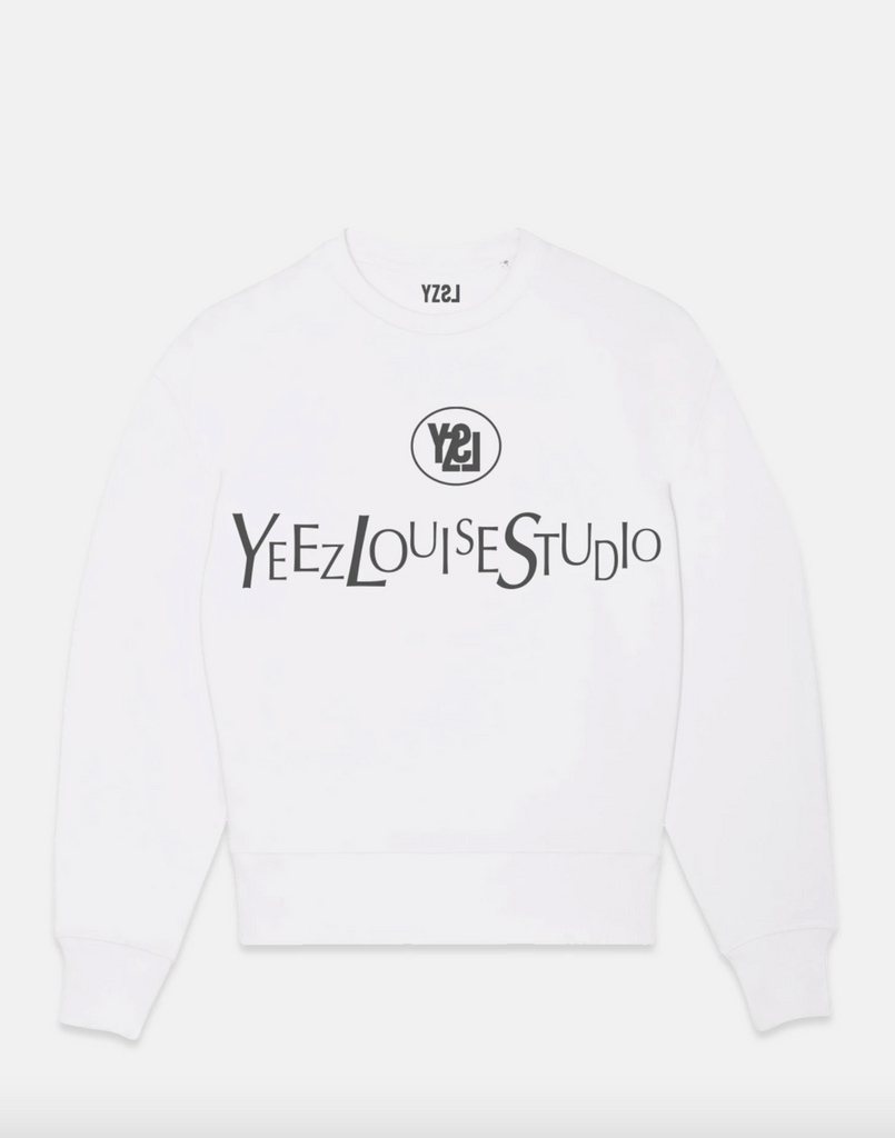 Yeez Louise oversized sweater - white