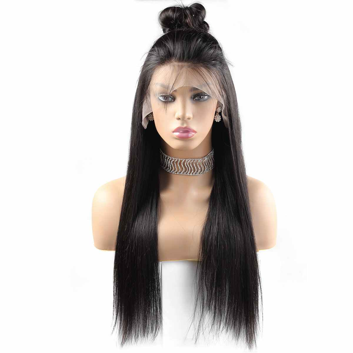 heyhair7 straight lace frontal wig