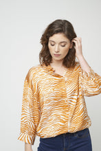 Load image into Gallery viewer, Garbie Shirt in Orange by Soya Concept