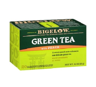 BIGELOW GREEN TEA W/PEACH