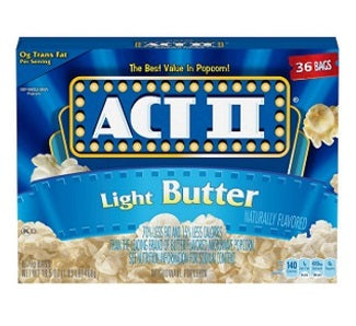 Act II Light Butter Popcorn