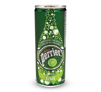 Perrier Slim Can: Lime