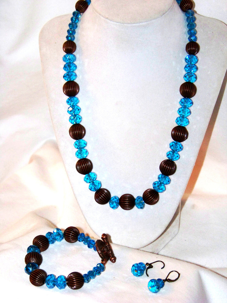 Swarovski Sky Blue Crystal Necklace Set