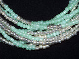 Sea Green Seed Bead Necklace