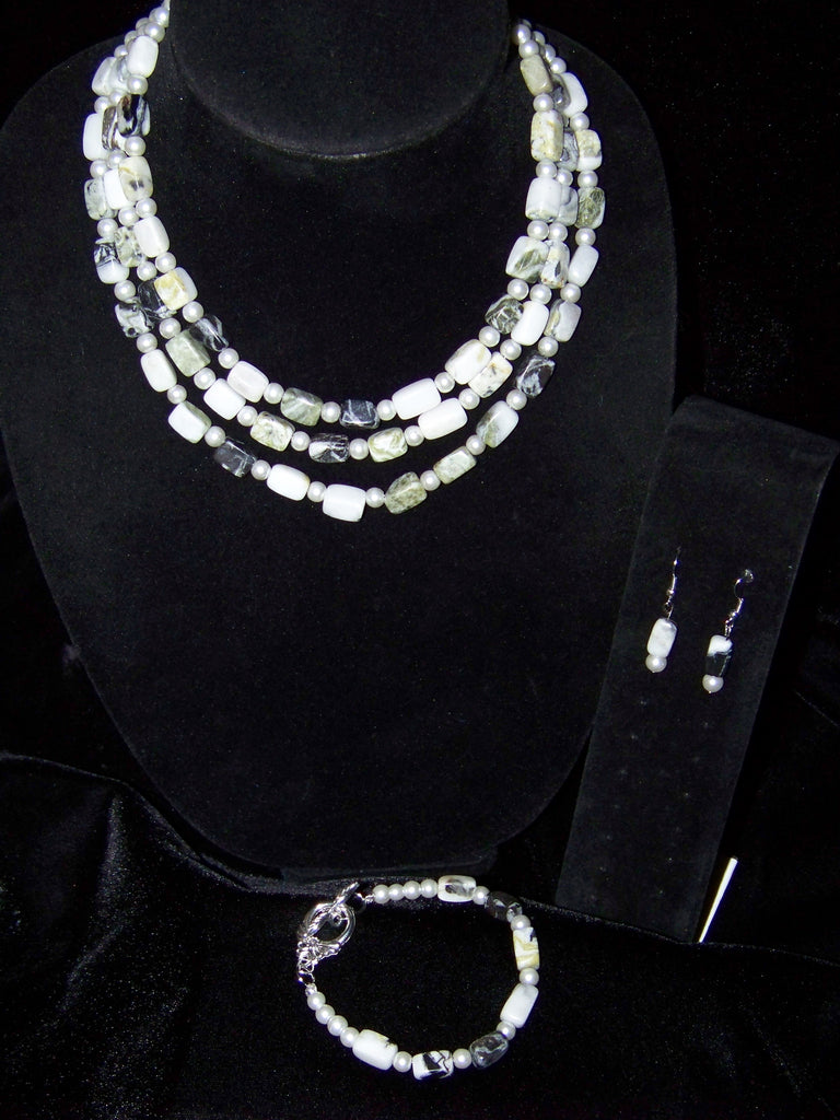 Natural Marble Necklace Set