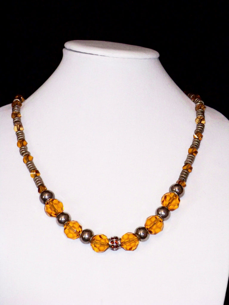 Amber Crystal Necklace