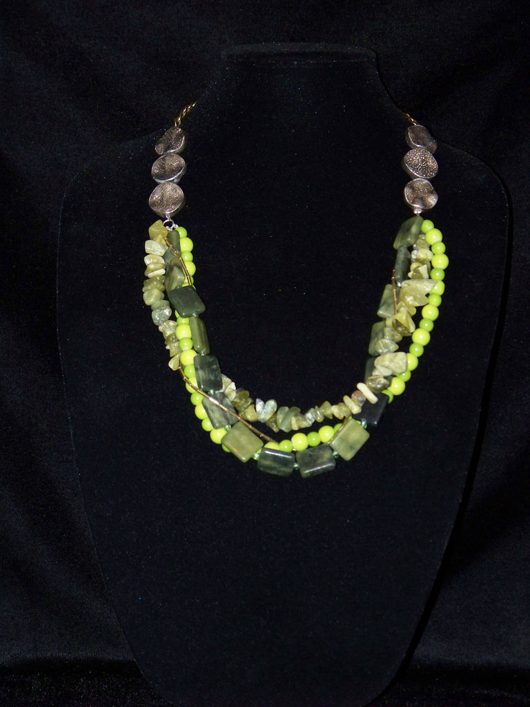 Shades of Greens Necklace