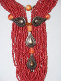 Jasper Seed Bead Necklace w/ Earrings