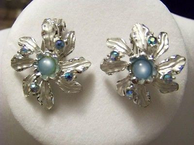 Vintage Swiss Blue Earrings