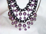 Purple Glass Pearl Necklace
