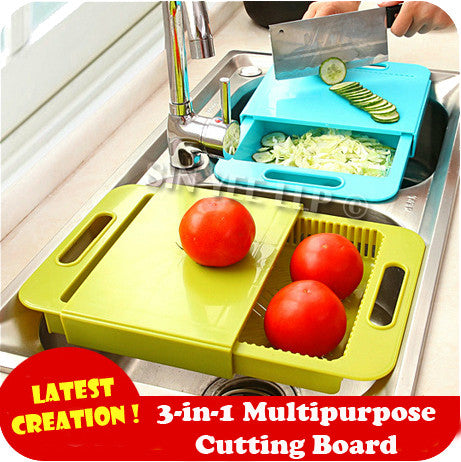 【K-Style】 ~ 3-in-1 Multipurpose Cutting Board