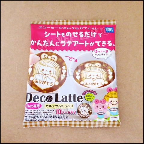 【Deco Latte】 Latte Art Sheets (Little Girl Version)