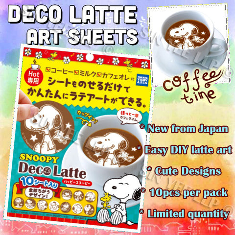 【Deco Latte】 Latte Art Sheets (New Snoopy)