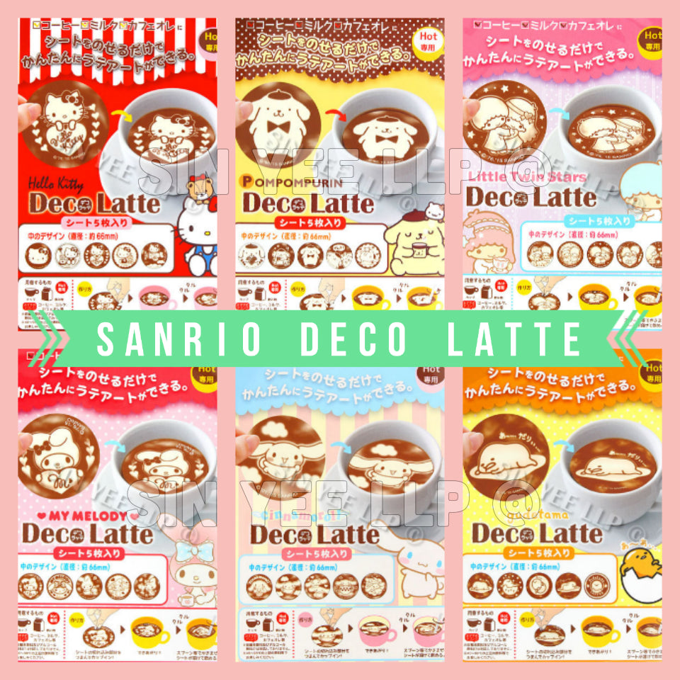 【Deco Latte】 Latte Art Sheets (Sanrio Limited Edition)