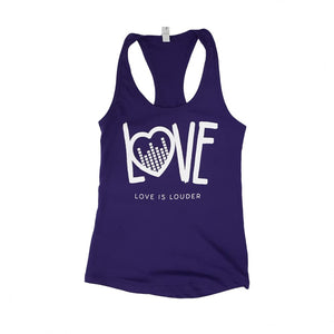 Love is Louder Racerback Tank (Purple)