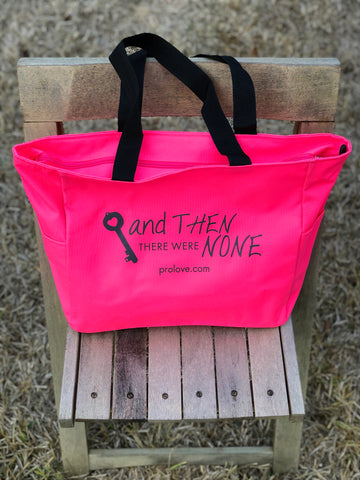 ATTWN Logo Zippered Tote (Pink)