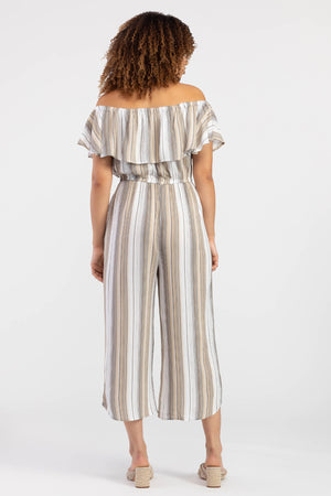 Tribal Linen Striped Jumpsuit