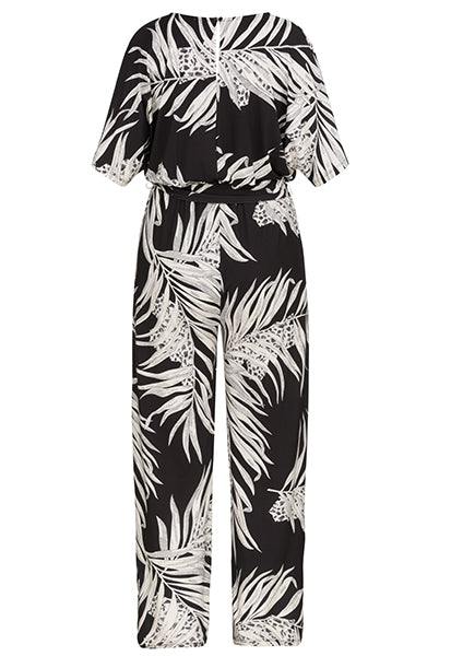 Tribal Print Dolman Sleeve Jumpsuit