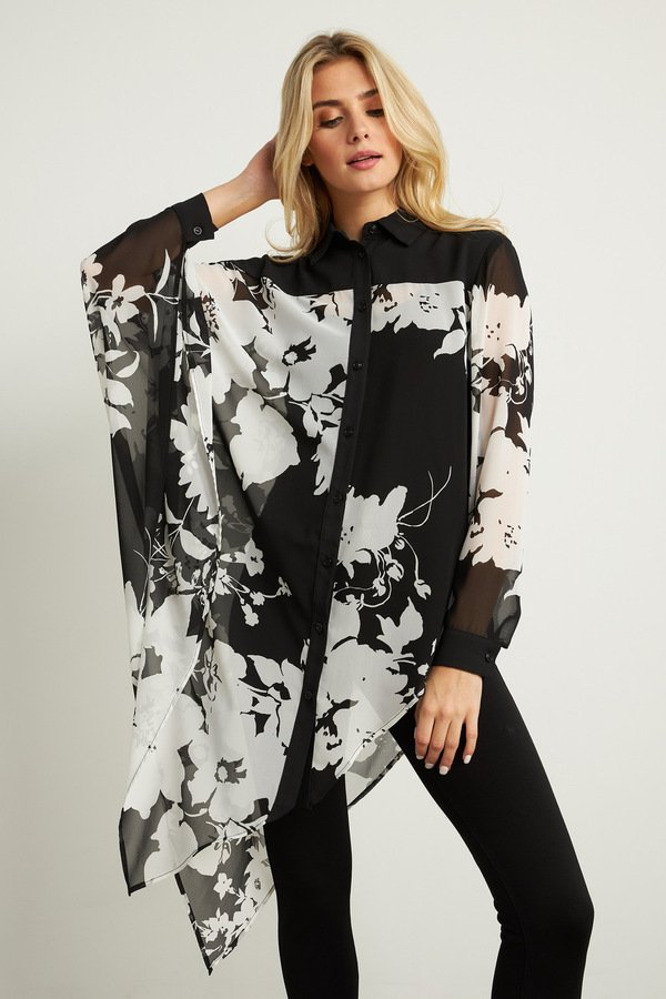 Joseph Ribkoff Draped Blouse