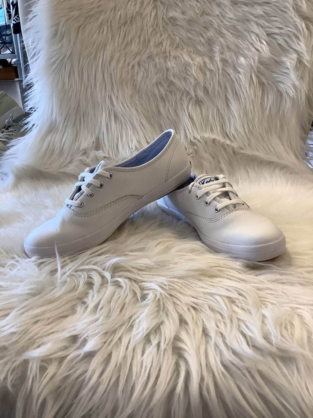 Ked's Champion White Leather Sneaker