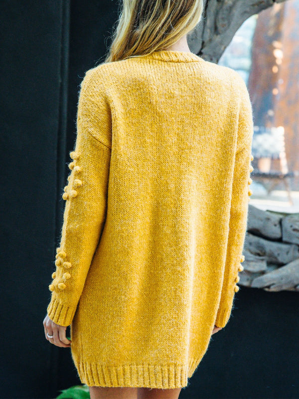 Mohair three-dimensional decorative cardigan
