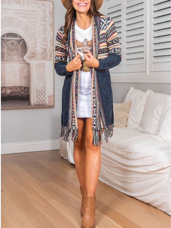 Mohair boho cardigan sweater