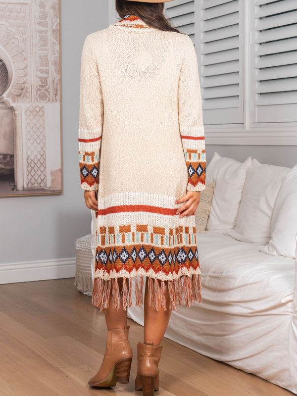 Long mohair boho cardigan
