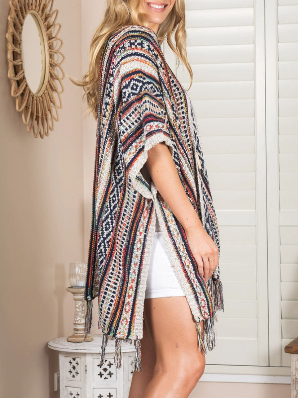 boho casual bat sleeve loose cardigan