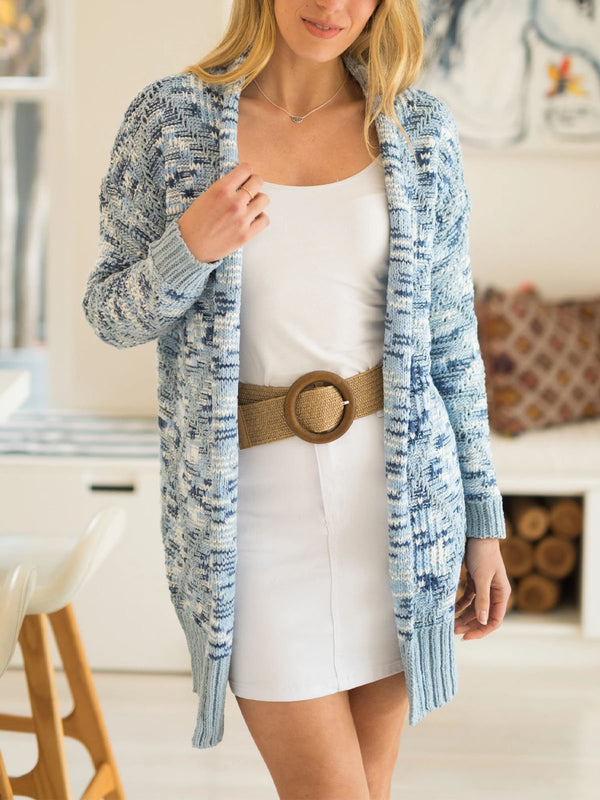 Camouflage casual cardigan sweater
