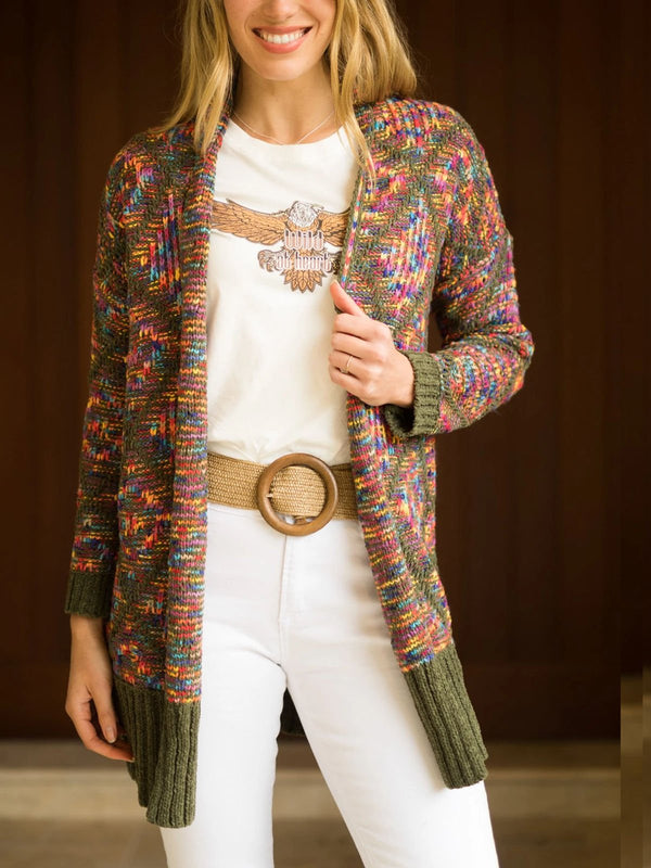 Bohemian short cardigan sweater
