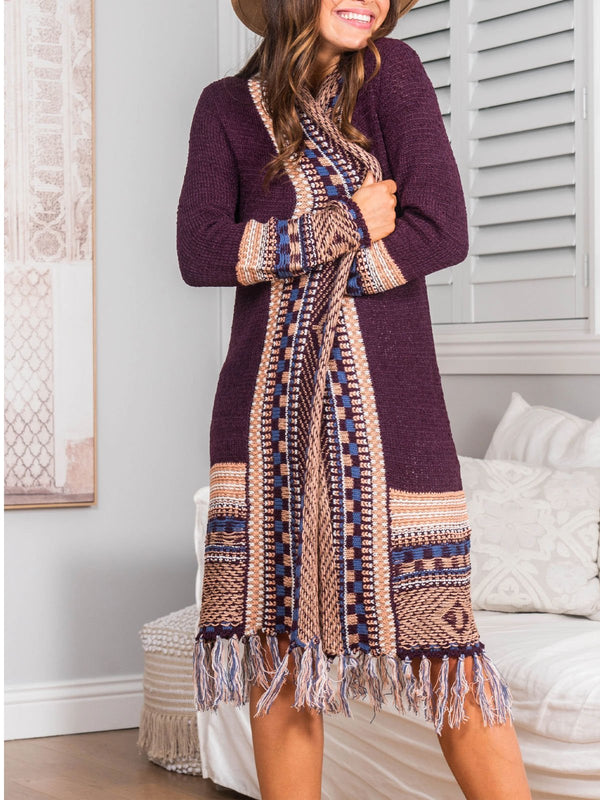 boho long mohair cardigan