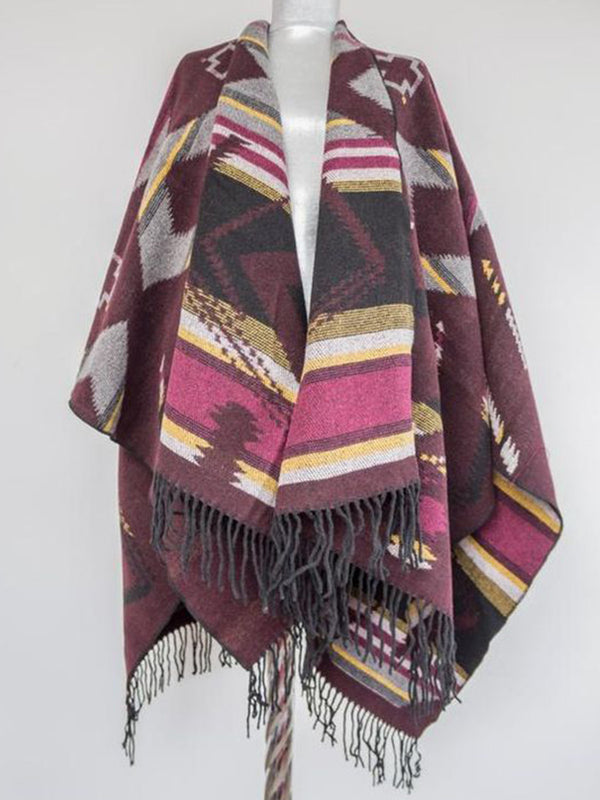 Pink Unisex Sweet Cotton Tribal Scarves & Shawls