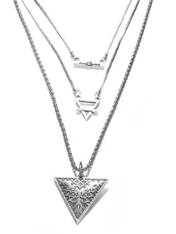 Metallic Casual Alloy Necklaces