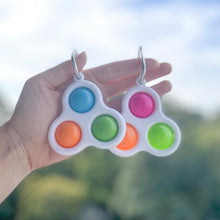 Load image into Gallery viewer, Simple Dimple Fidget Keychain Duo