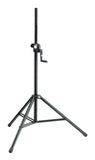 K&M Heavy-Duty Speaker Stand with Push-Button System and Hand Crank
