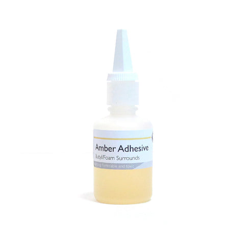 Amber Adhesive ---- 1 oz for Butyl Rubber/Foam Surrounds