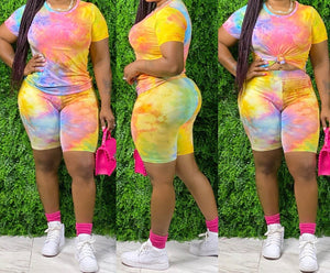 Cotton Candy Tie-Dye Set (Two Piece)