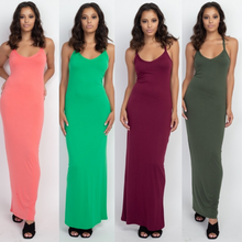 Load image into Gallery viewer, Racerback Maxi Dress