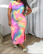 Load image into Gallery viewer, Tie Dye T-shirt Dress