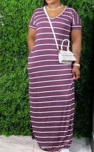 Keri Striped Maxi (Plus)