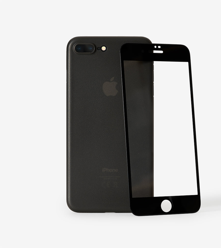 iPhone 7 Plus & 8 Plus voll-abdeckendes gerundetes 3D Display-Schutzglas