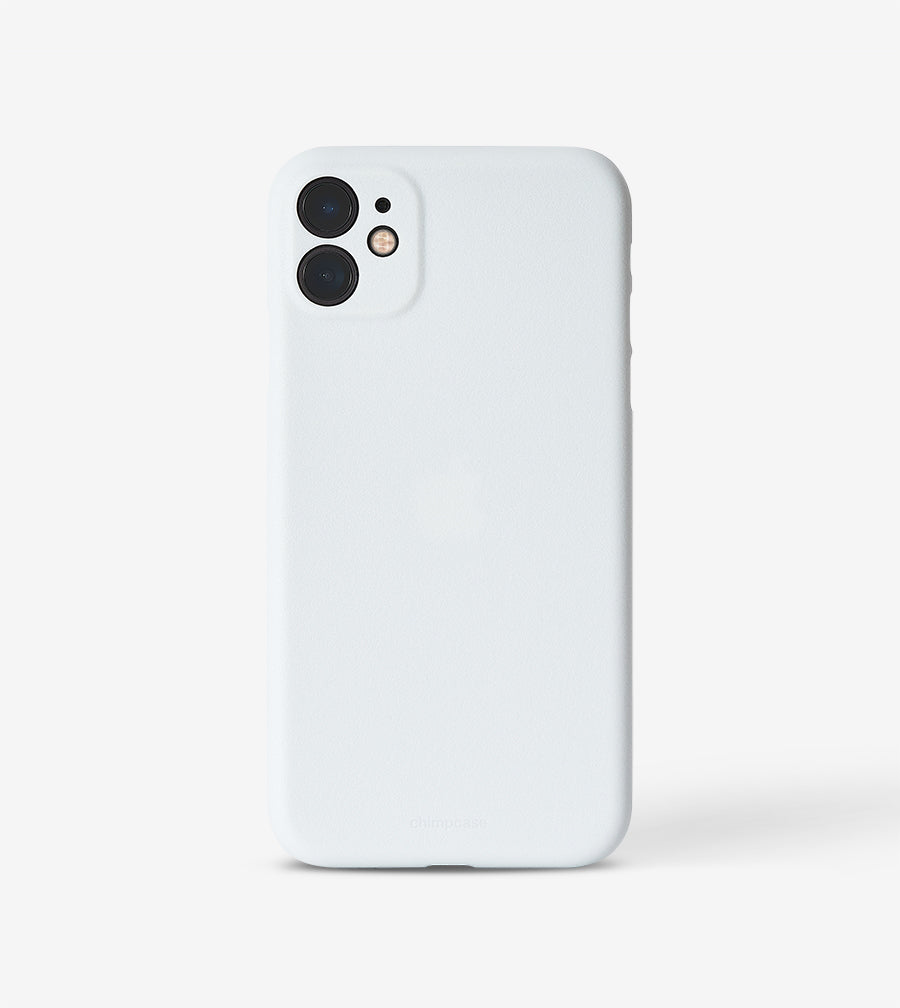 chimpcase dünnes iPhone 11 Skinny Case - solid white