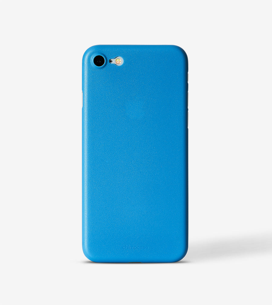 chimpcase iPhone 8 Skinny Case - solid niagara blue