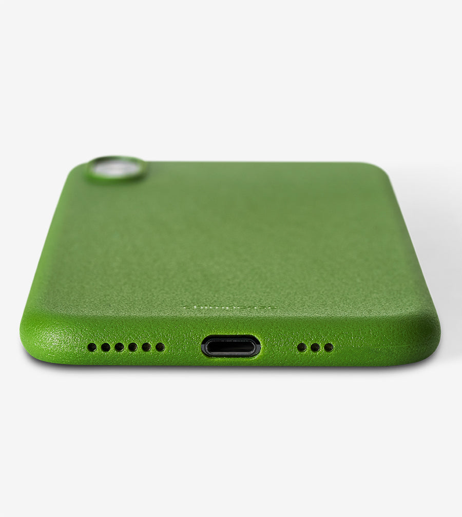 chimpcase iPhone XS Skinny Case - solid kale